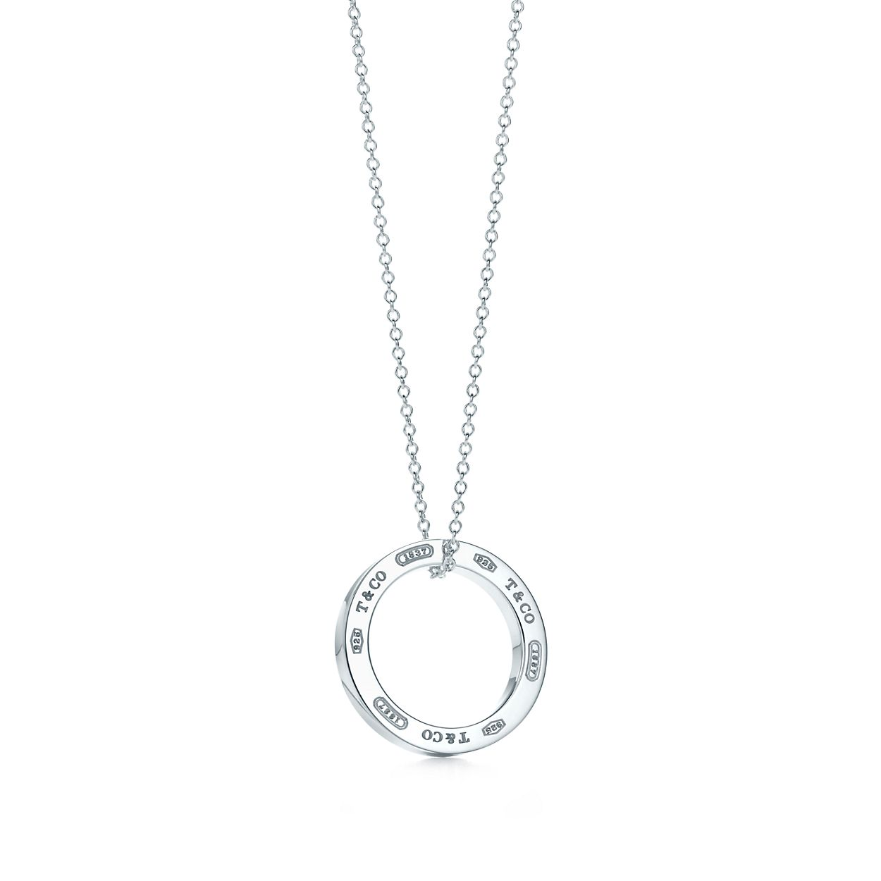 Tiffany 1837 pendant in sterling silver on a 16 chain tiffany co tiffany 1837circle pendant aloadofball Images