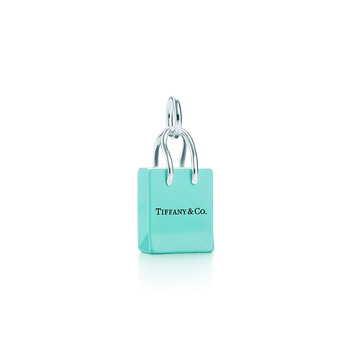 c0672af37e shopping bag charm in sterling silver with enamel finish. | Tiffany & Co.