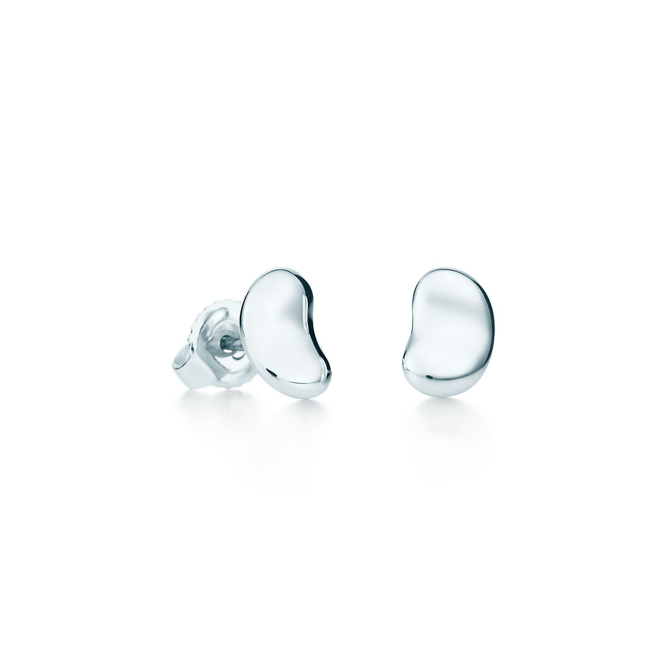 Elsa Peretti Boucles D'oreilles De Haricots En Argent Sterling - Taille 12 Mm Tiffany & Co. 0nYMVEiyV