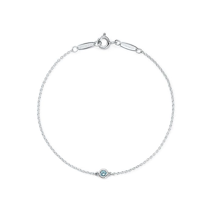 6c1a7fc19 Shop Elsa Peretti® Sterling Silver and Aquamarine Bracelet | Tiffany ...
