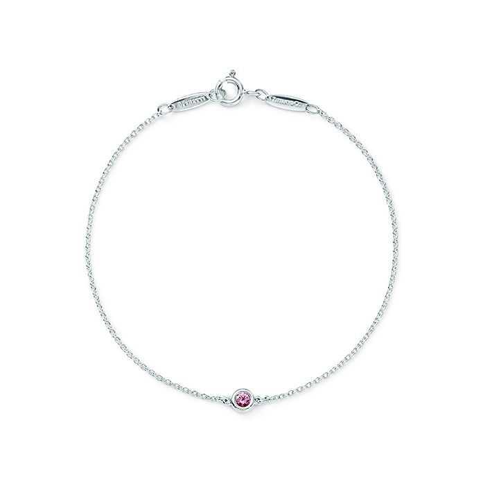 b3251b16c Elsa Peretti® Color by the Yard bracelet in silver with a pink ...