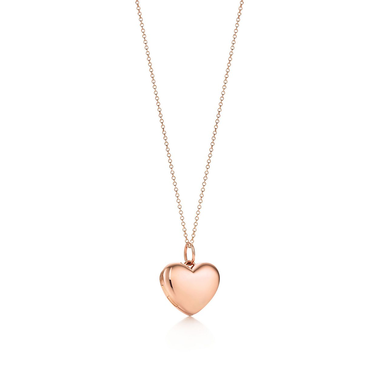 Heart locket pendant in 18k rose gold small tiffany co heart locket pendant heart locket pendant mozeypictures Gallery