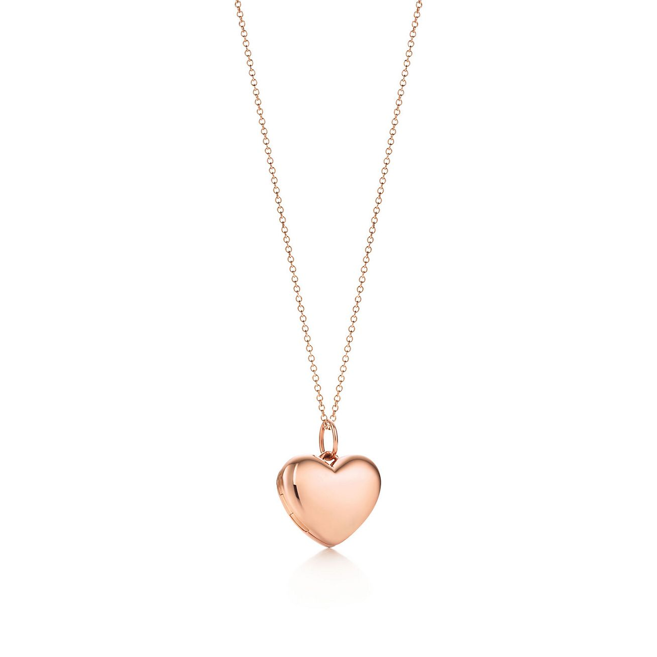 Heart locket pendant in 18k rose gold small tiffany co heart locket pendant aloadofball Choice Image