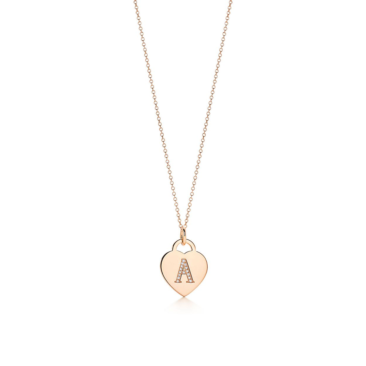 Alphabet heart tag letter L charm in 18k rose gold Letters A-Z available - Size L Tiffany & Co. BFICL7oWZQ
