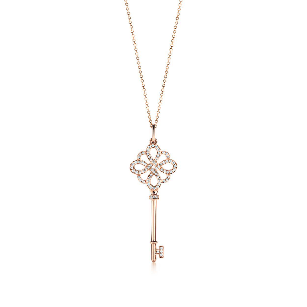 Clé Nœud en or rose 18 carats et diamants, Clés Tiffany.   Tiffany   Co. 7936b90860a2