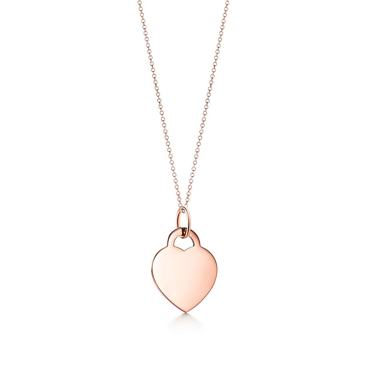 Tiffany Charms heart tag in 18k rose gold, medium Tiffany & Co.