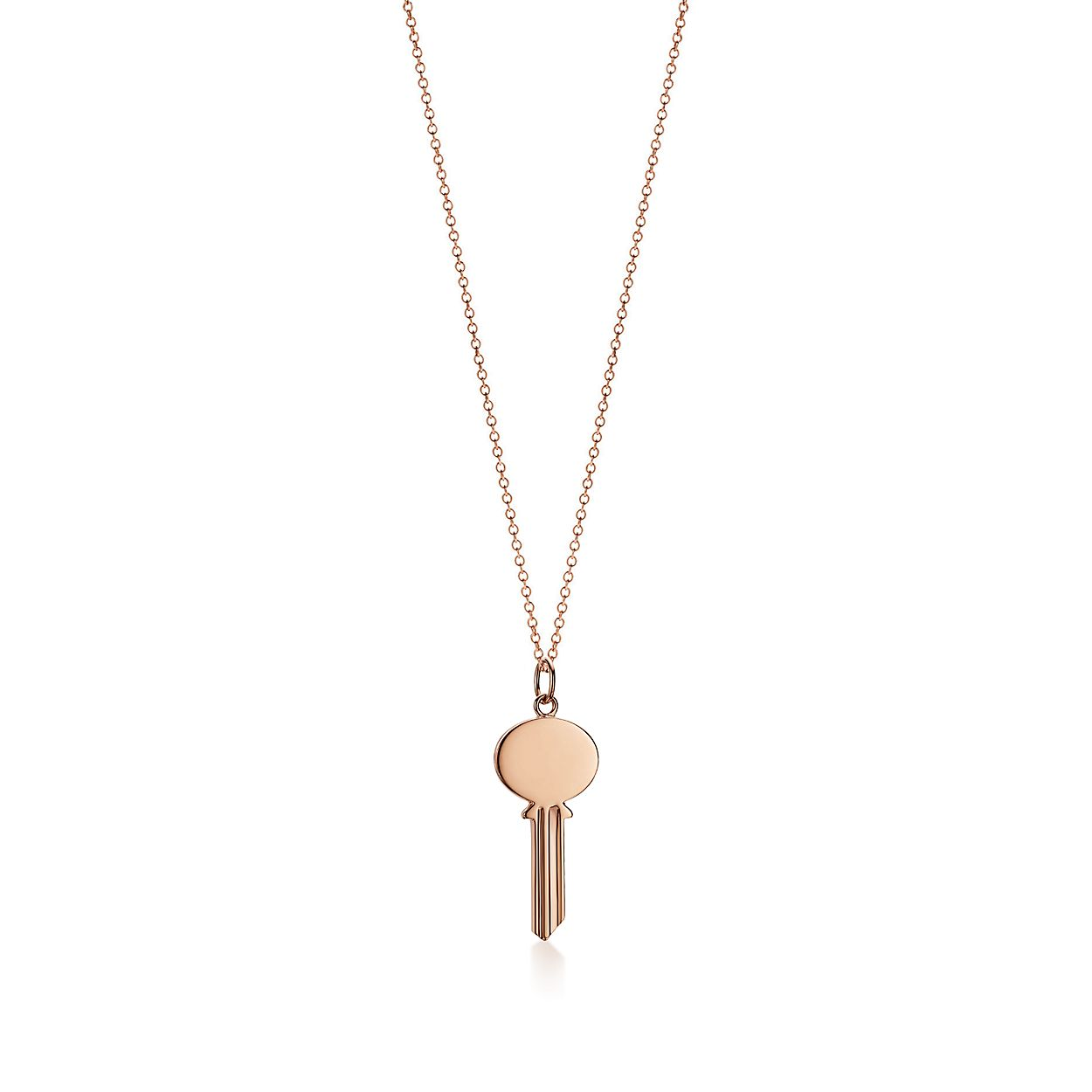 Tiffany Keys oval key pendant in 18k rose gold, small Tiffany & Co.
