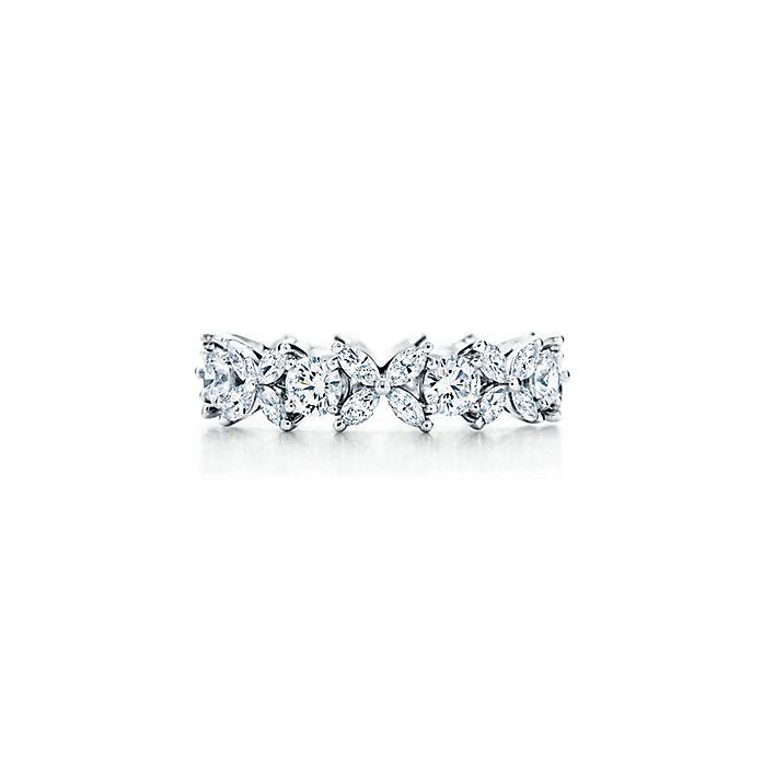 74810c235 Tiffany Victoria® Platinum and Diamond Alternating Ring | Tiffany & Co.
