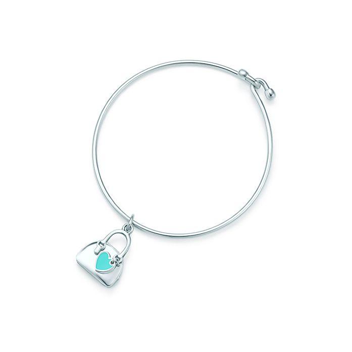 a811f6350f Handbag charm in sterling silver with Tiffany Blue® enamel finish on a  bracelet. | Tiffany & Co.