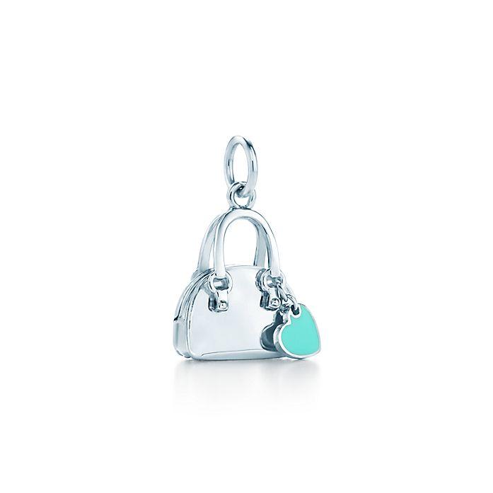 d4ea130502 Handbag charm in sterling silver with Tiffany Blue® enamel finish. | Tiffany  & Co.