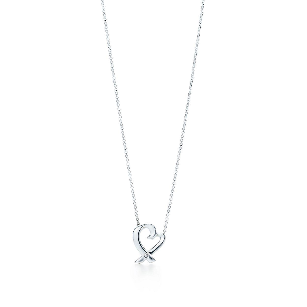 Paloma Pendentif Coeur Picasso Amour En Argent Sterling Avec Un Diamant, Petite Tiffany & Co.