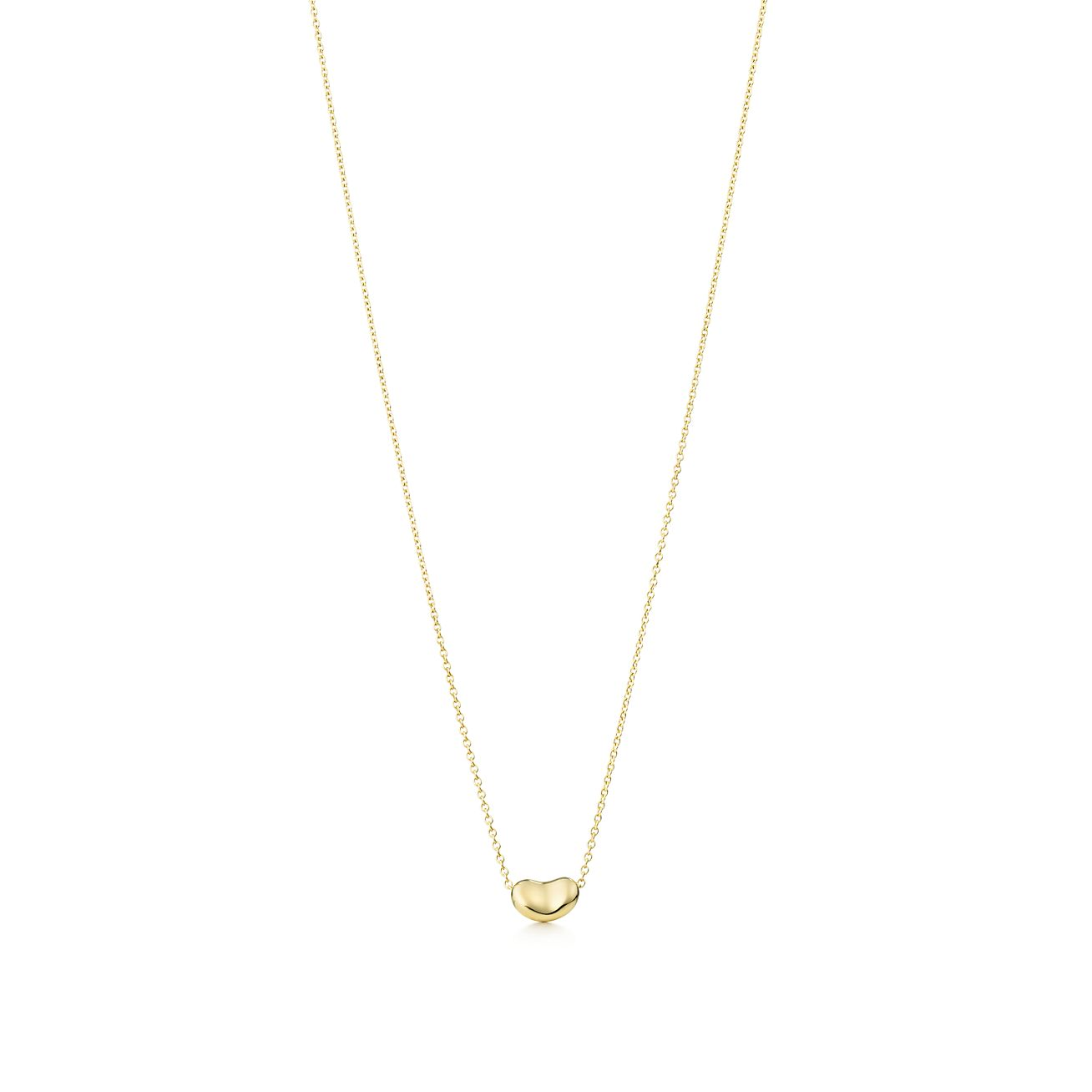 cd49bdd5c Elsa Peretti Bean Pendant In 18k Gold Tiffany Co. Elsa Peretti Bean Necklace  And Earrings