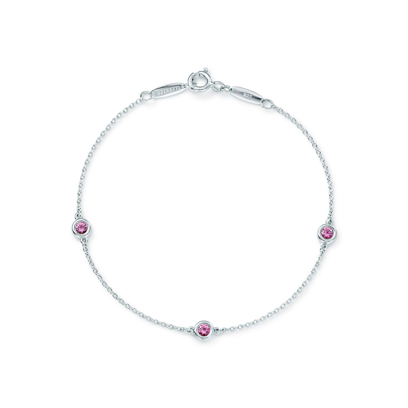 Elsa Peretti Color by the Yard pendant in silver with a pink sapphire Tiffany & Co.