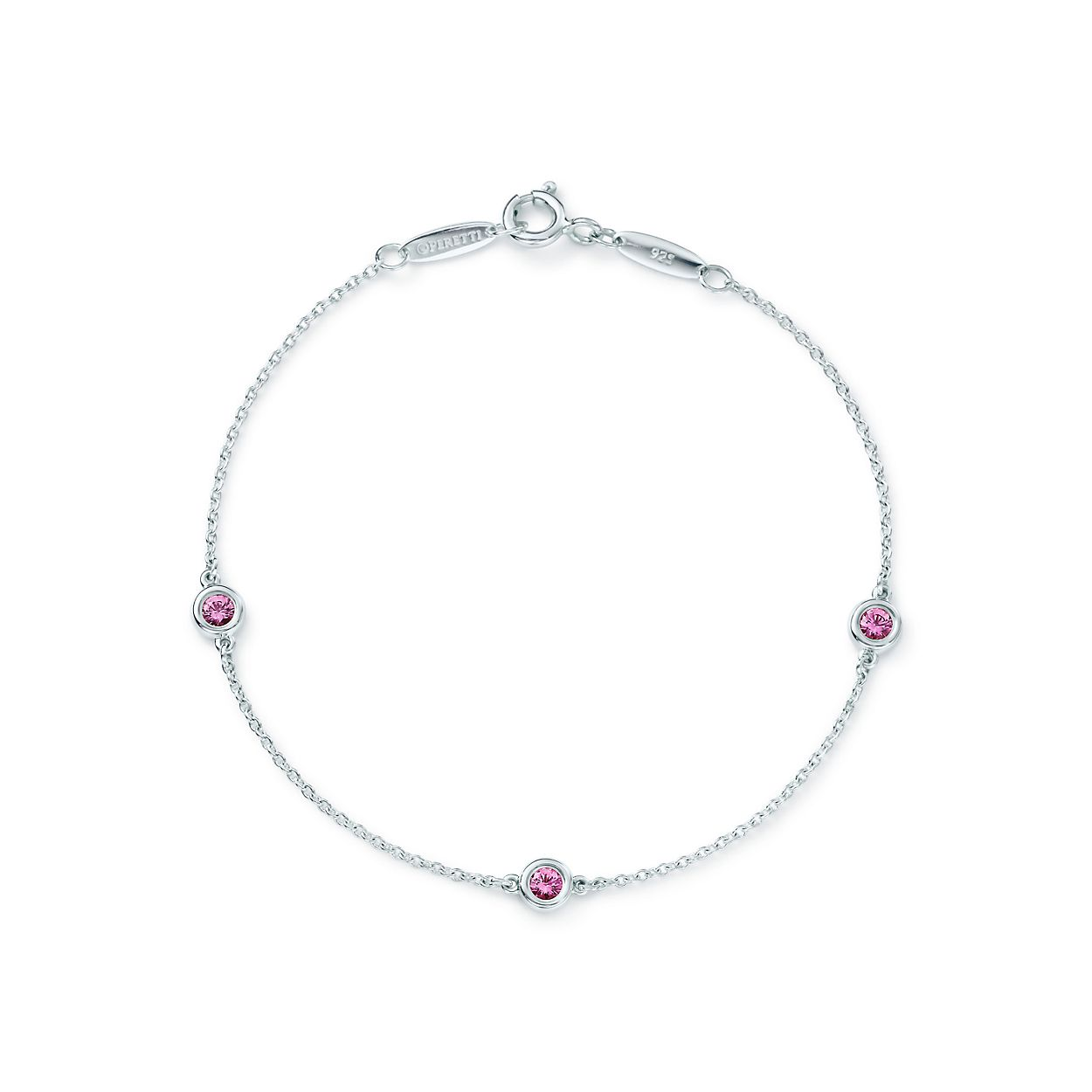 Elsa Peretti Color by the Yard pendant in silver with a pink sapphire Tiffany & Co. oJuM4FKeby