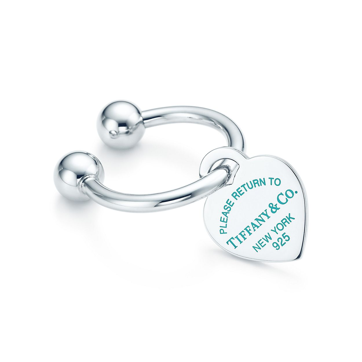 Return To Tiffany Heart Tag Key Ring