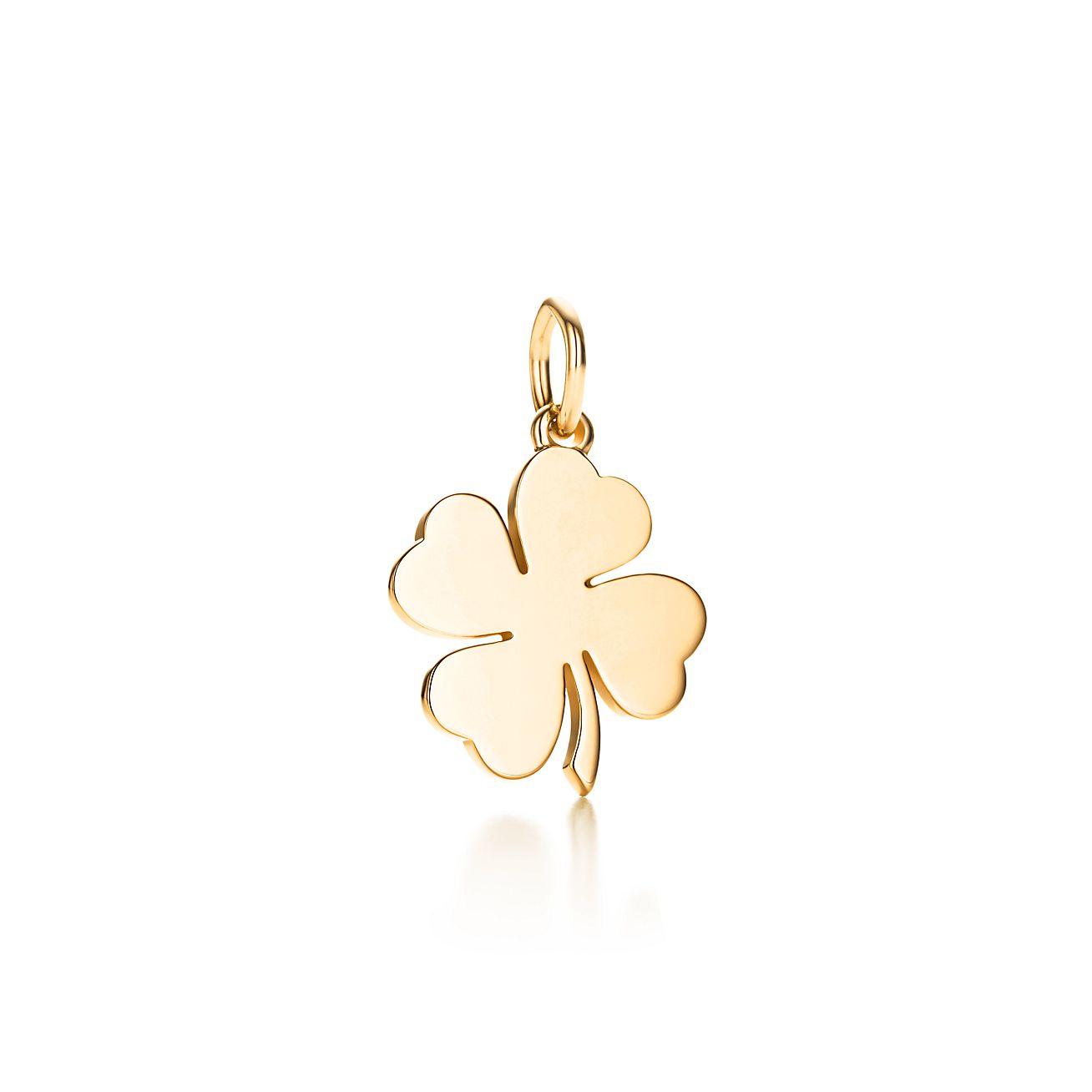 Four leaf clover charm in 18k gold tiffany co four leaf clover charm aloadofball Choice Image