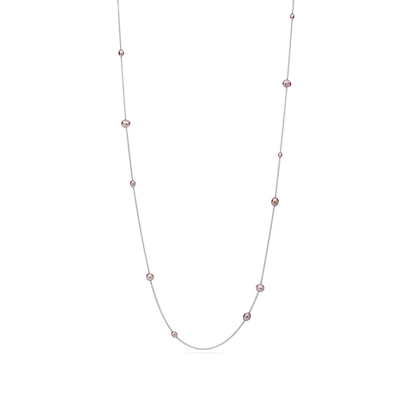 825c4b667 Elsa Peretti® Pearls by the Yard™ sprinkle necklace of cultured pearls in  silver · Tiffany & Co.