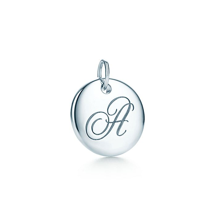 f434de6f7 Tiffany Notes alphabet disc charm in silver, small. Letters A-Z ...
