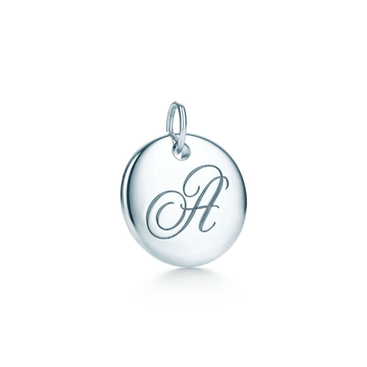 Tiffany Notes alphabet disc charm in silver, small Letters A-Z available - Size D Tiffany & Co.