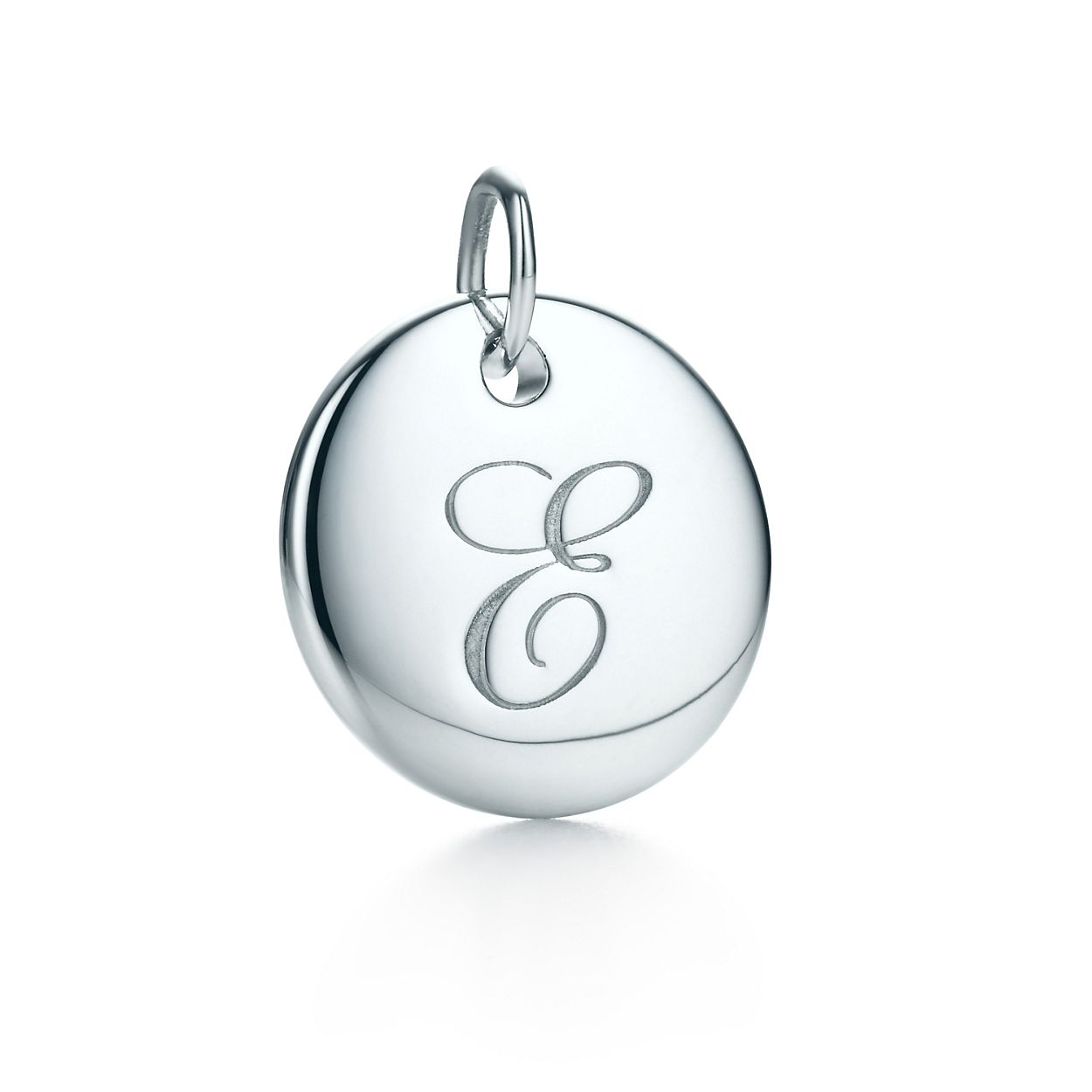 Tiffany Notes alphabet disc charm in silver, small Letters A-Z available - Size T Tiffany & Co.