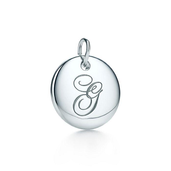 6436cdf163f3 Tiffany Notes alphabet disc charm in silver