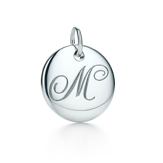 627929f53 Tiffany Notes alphabet disc charm in silver, small. Letters A-Z ...