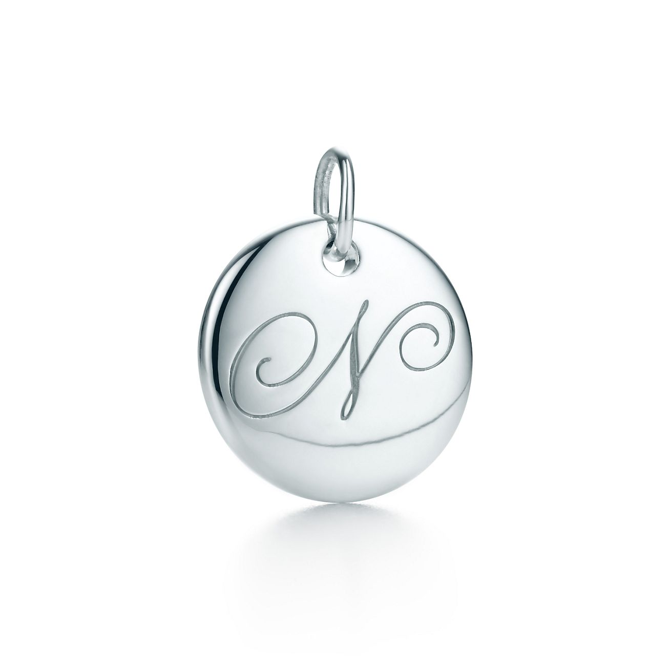 Tiffany Notes alphabet disc charm in silver, small Letters A-Z available - Size O Tiffany & Co.