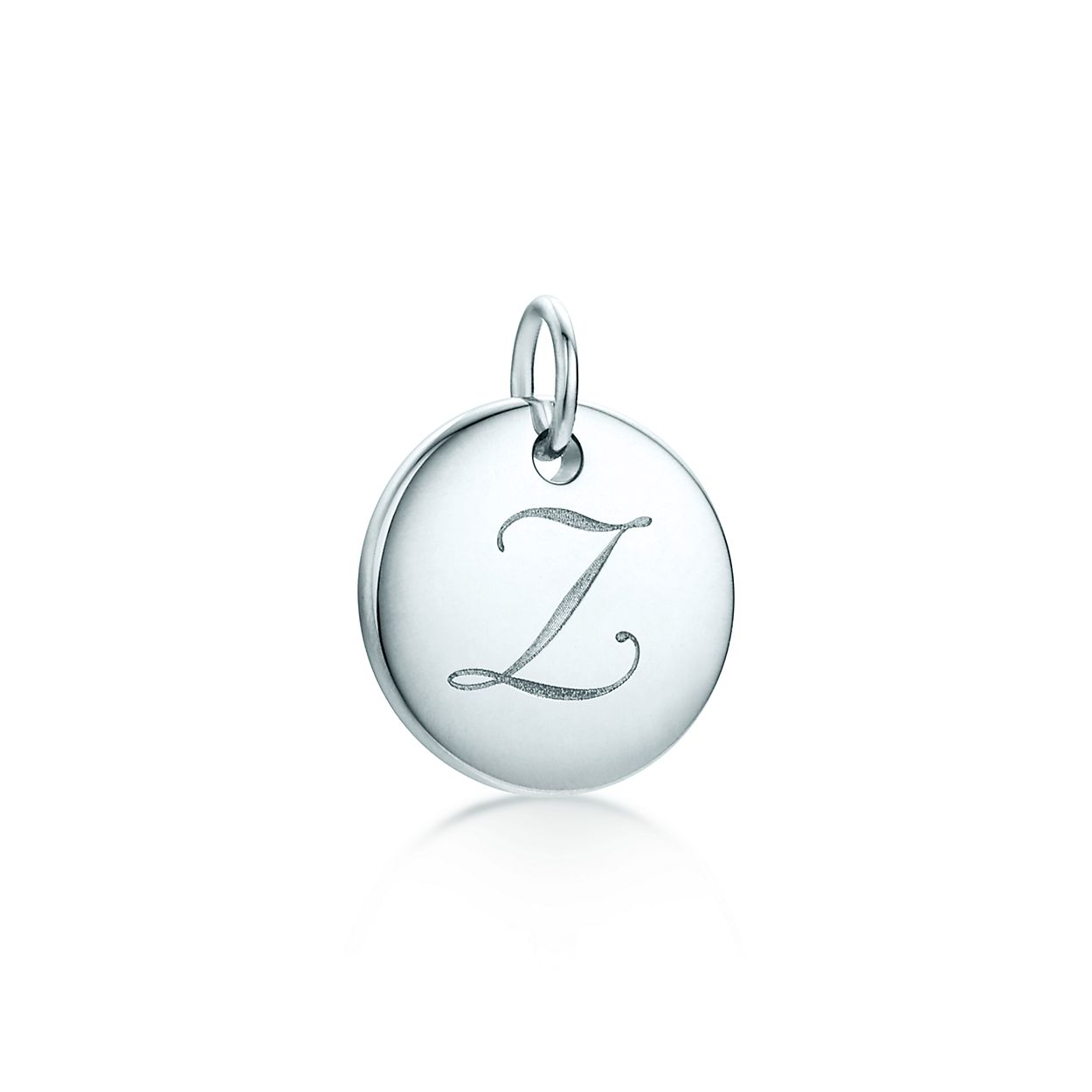 Tiffany Notes alphabet disc charm in silver, small Letters A-Z available - Size Z Tiffany & Co.