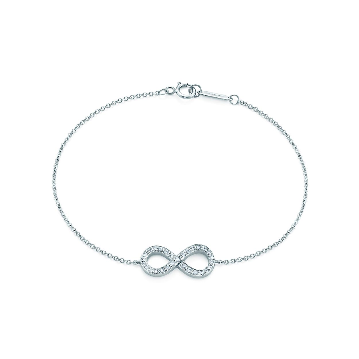 Tiffany Bow bracelet in platinum with diamonds, medium - Size 6.5 IN Tiffany & Co.