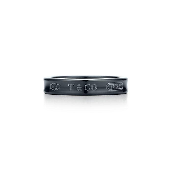 c4913490a Tiffany 1837™ narrow ring in titanium. | Tiffany & Co.