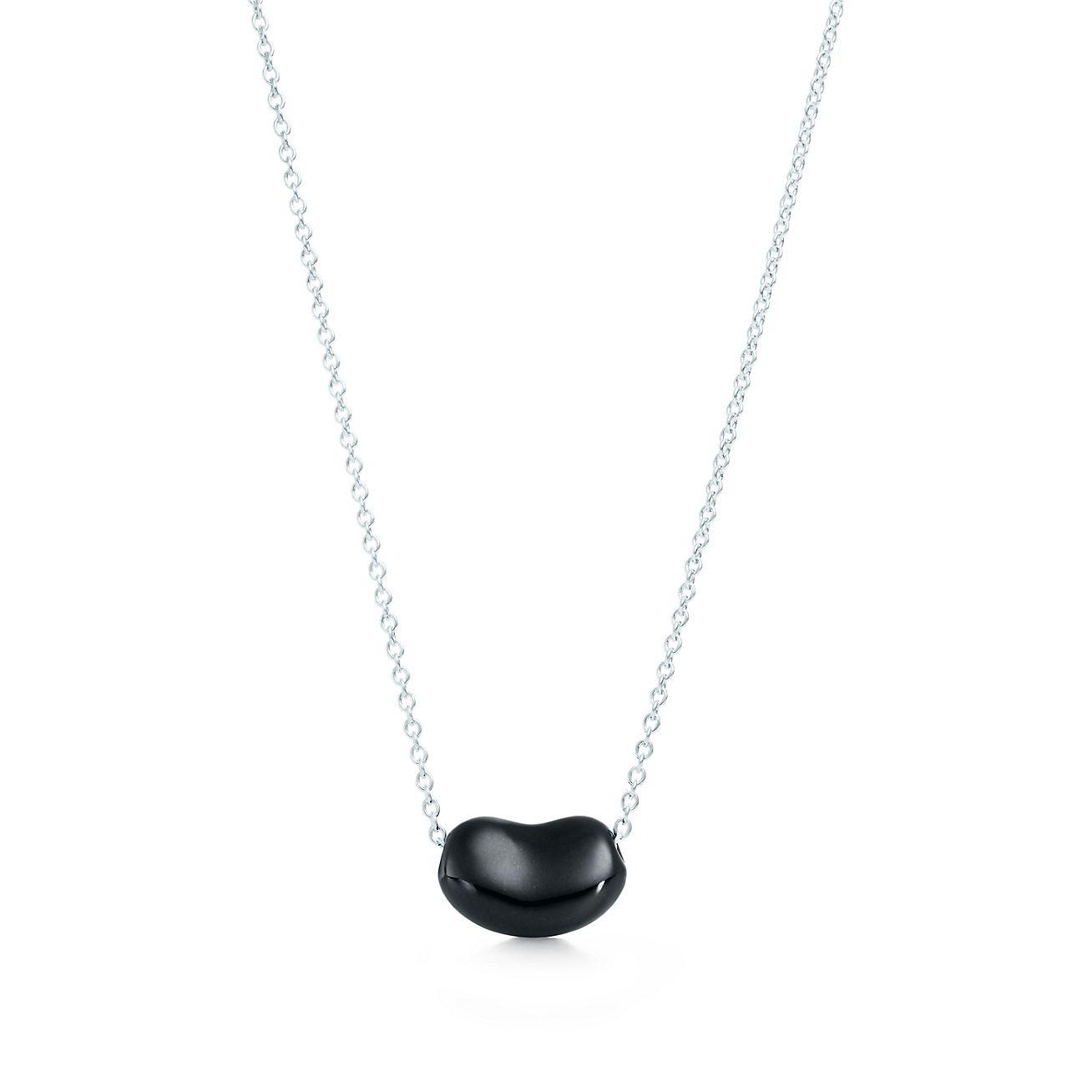 Elsa Peretti Bean pendant in sterling silver with black jade Tiffany & Co.