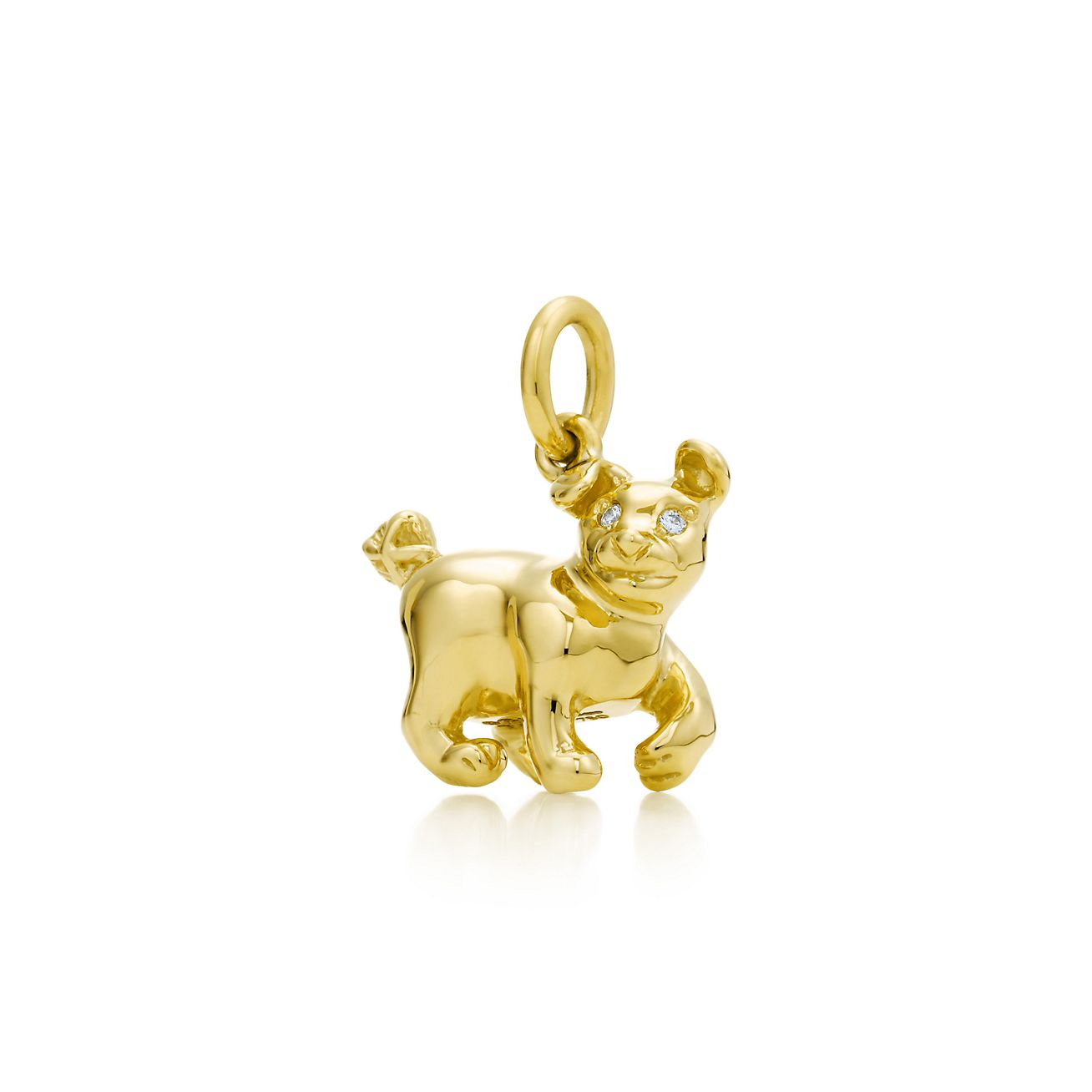 Palomas chinese zodiac charm in 18k gold with diamonds all signs palomas chinese zodiacdog charm aloadofball Gallery