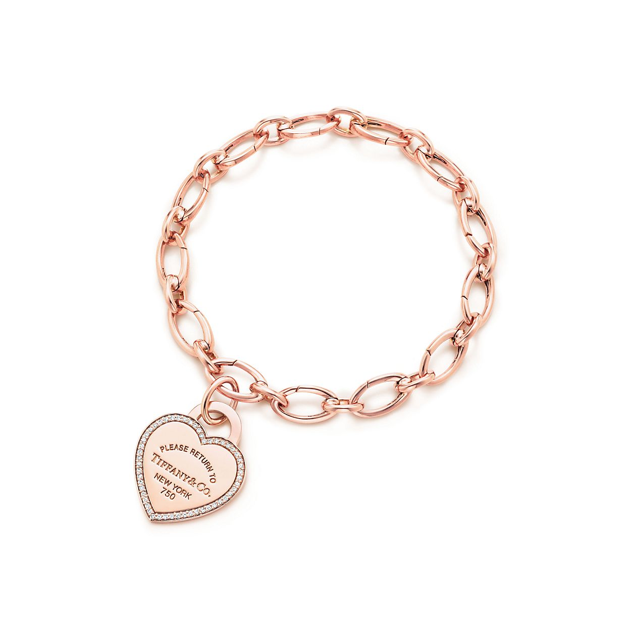 Return to Tiffany heart tag charm in 18k rose gold, medium Tiffany & Co.