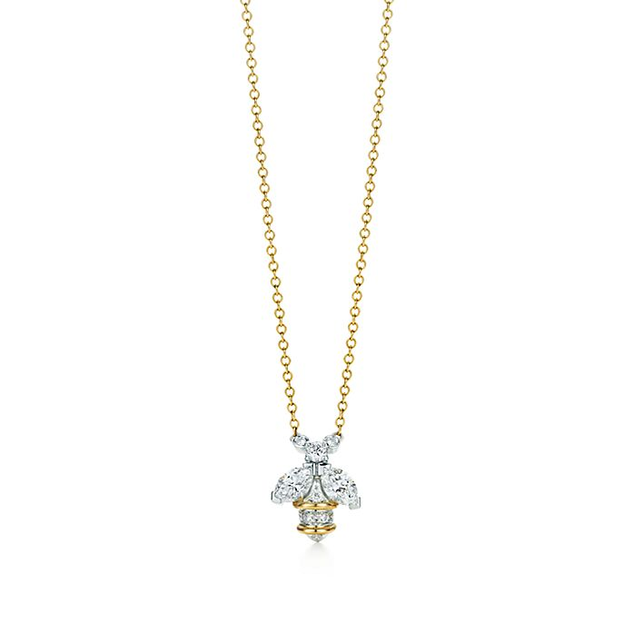 16774cabf Tiffany & Co. Schlumberger® bee pendant in 18k gold and platinum ...