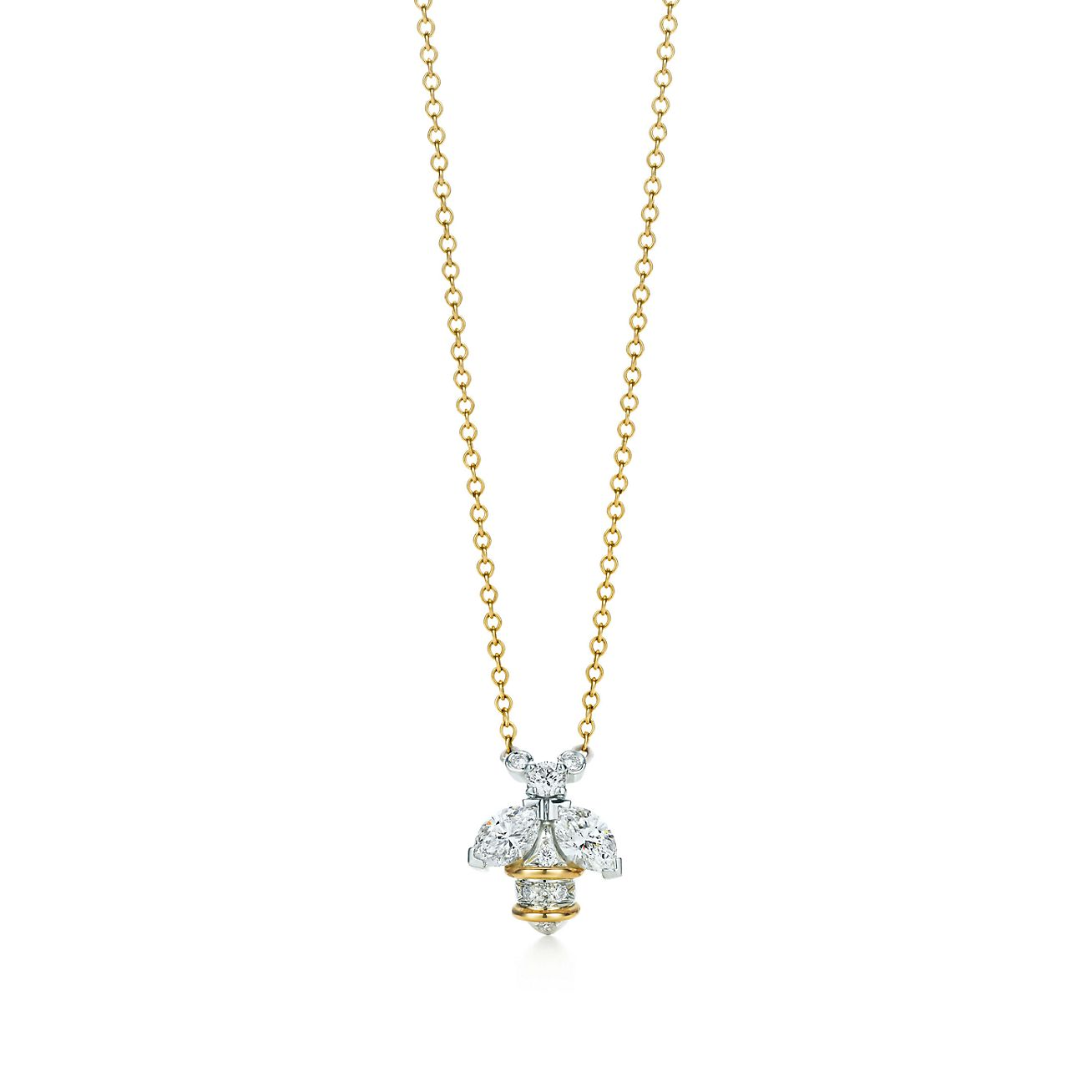 Tiffany co schlumberger bee pendant in 18k gold and platinum schlumbergerbee pendant aloadofball