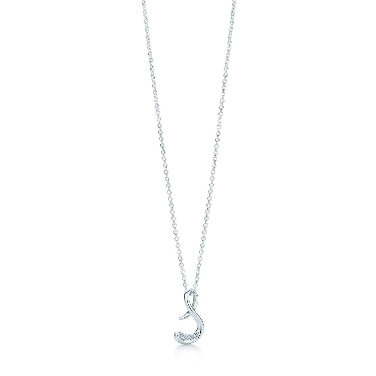 Elsa Pendentif Peretti Alphabet En Argent Avec Des Lettres De Diamants Az Disponible - Taille Y Tiffany & Co. yZCsp
