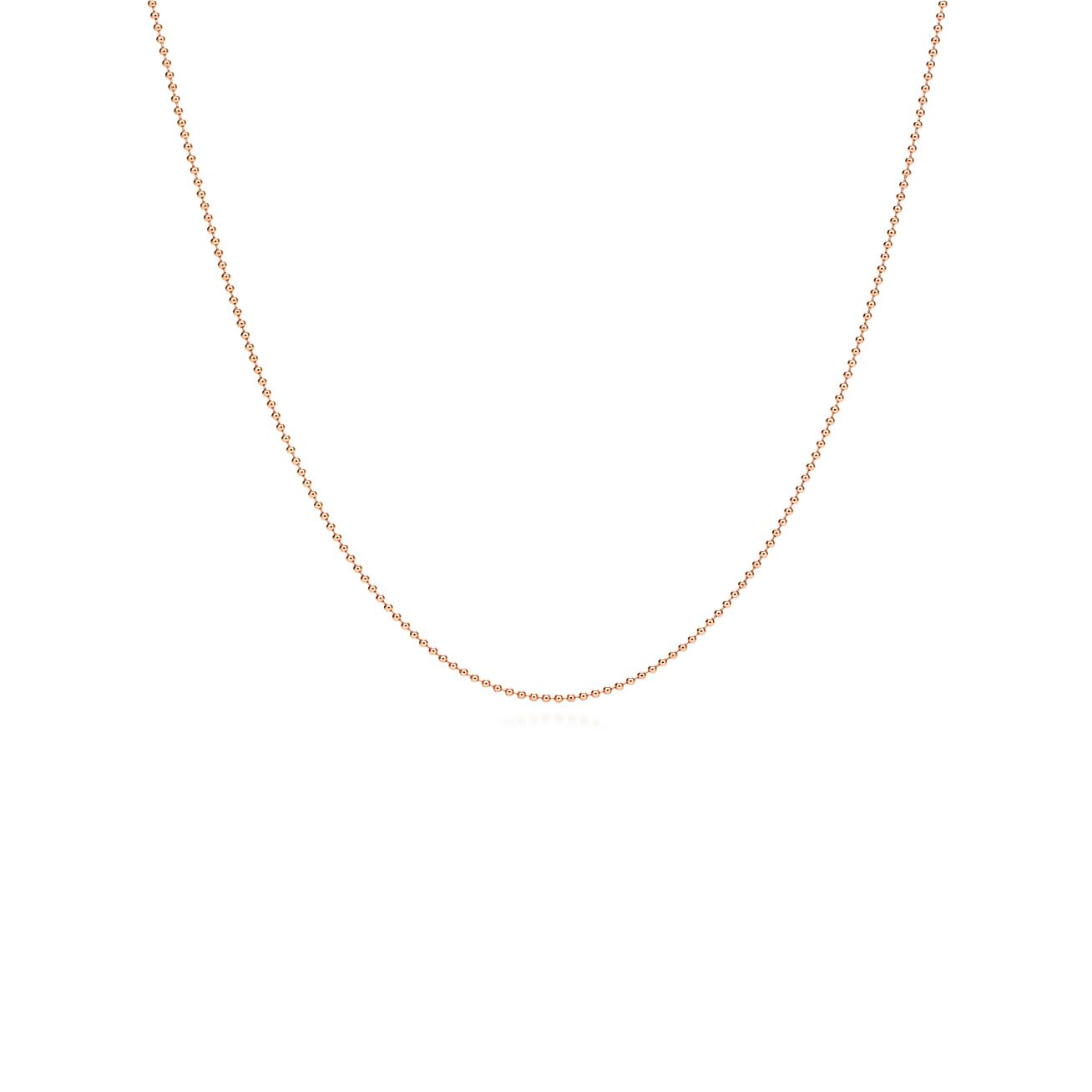 Chain in 18k rose gold - Size 30 in Tiffany & Co.