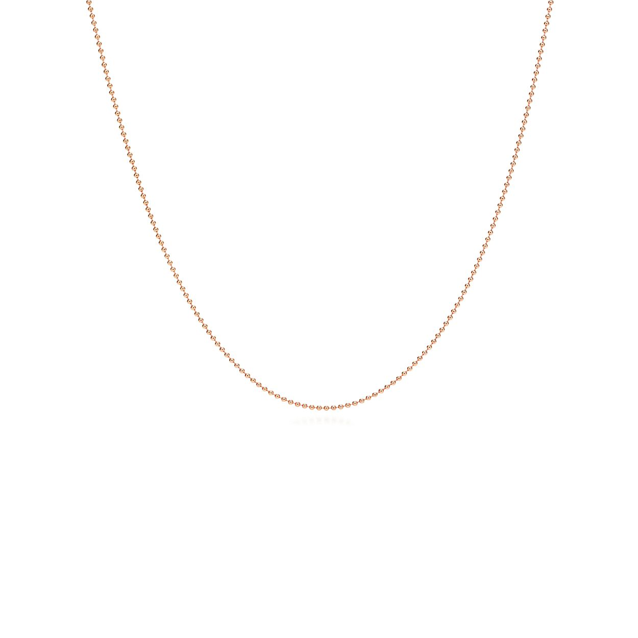 Chain in 18k rose gold - Size 30 in Tiffany & Co. iUmxQr0x