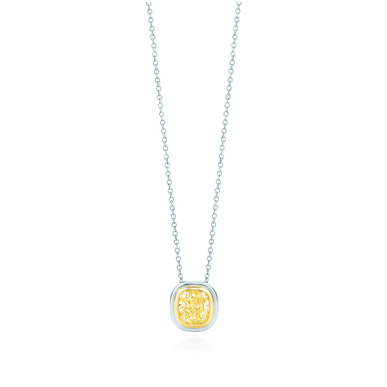 Tiffany bezet yellow diamond pendant in platinum and 18k gold tiffany bezetyellow diamond pendant aloadofball Gallery