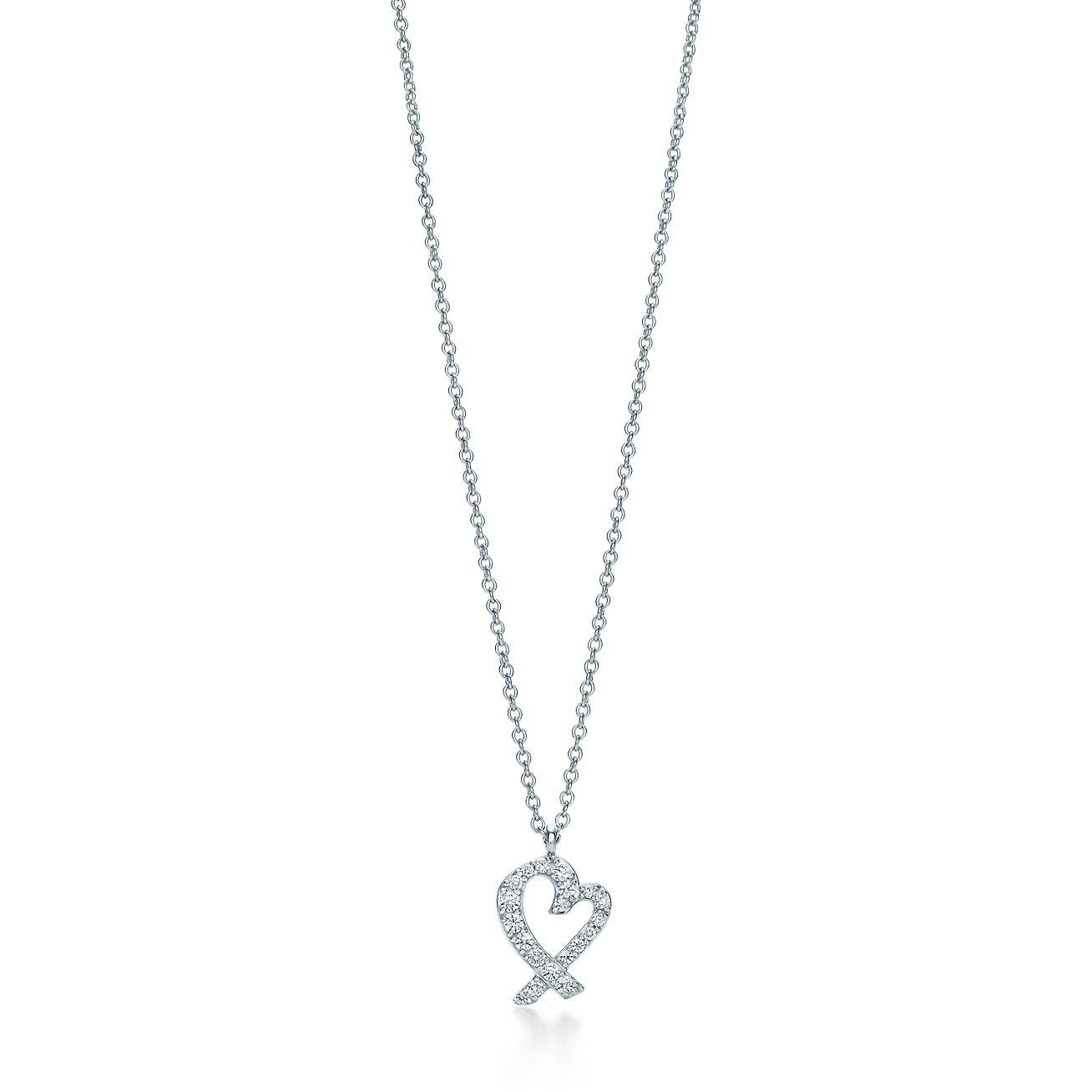 Paloma picasso loving heart pendant in 18k white gold with diamonds paloma picassoloving heart pendant aloadofball Choice Image