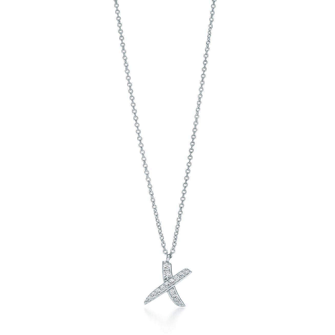Palomas x pendant with diamonds in 18k white gold small tiffany palomas xpendant aloadofball Gallery