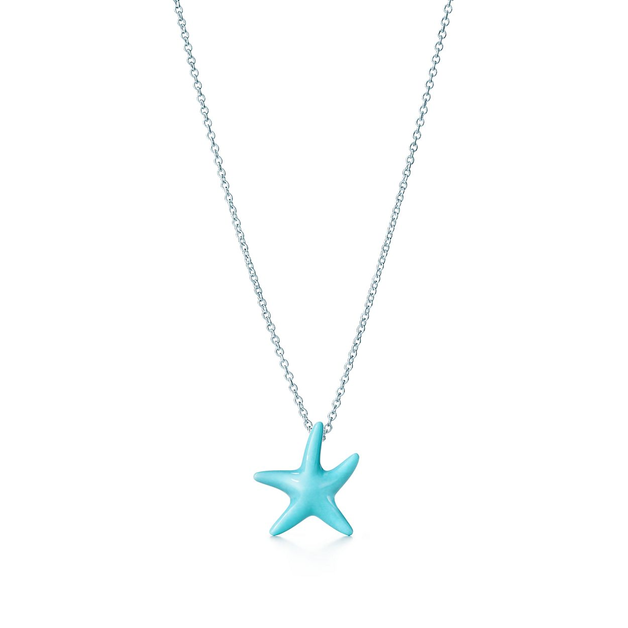 Elsa peretti starfish pendant of turquoise and sterling silver elsa perettistarfish pendant aloadofball Choice Image
