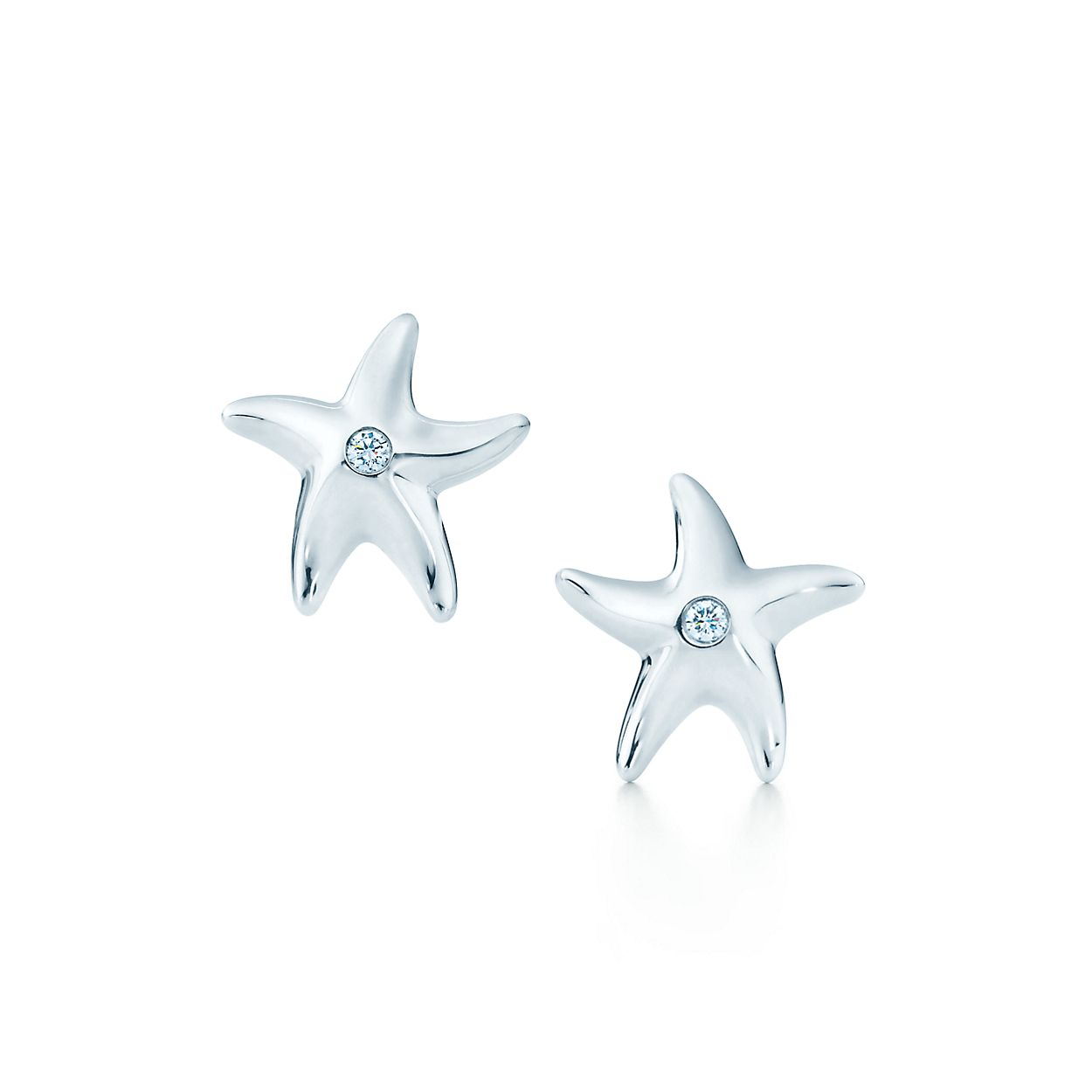 Elsa Peretti Starfish earrings with diamonds in sterling silver Tiffany & Co. dCGdkf