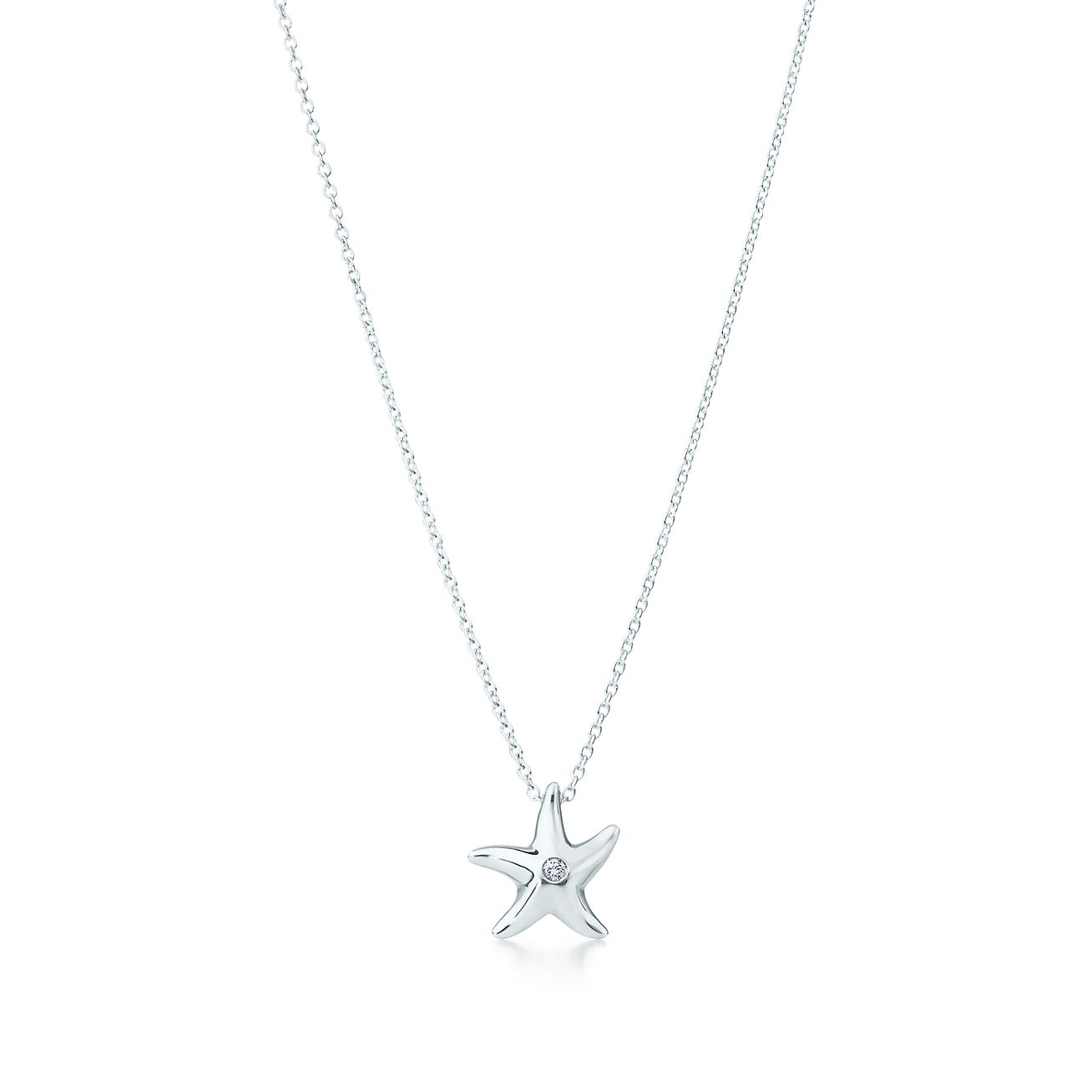 Elsa peretti starfish pendant in sterling silver with a diamond elsa perettistarfish pendant aloadofball Choice Image