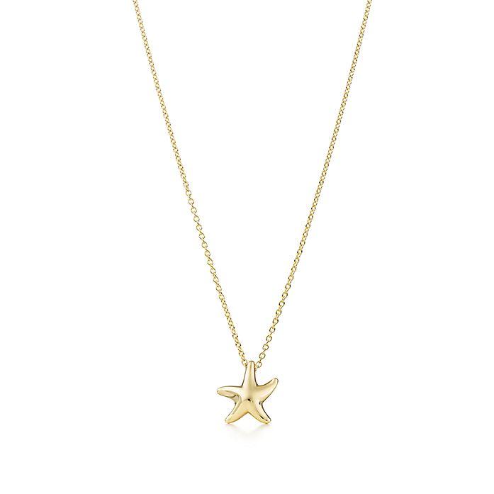 ab4bd4023 Elsa Peretti® Starfish pendant in 18k gold, 12mm. | Tiffany & Co.