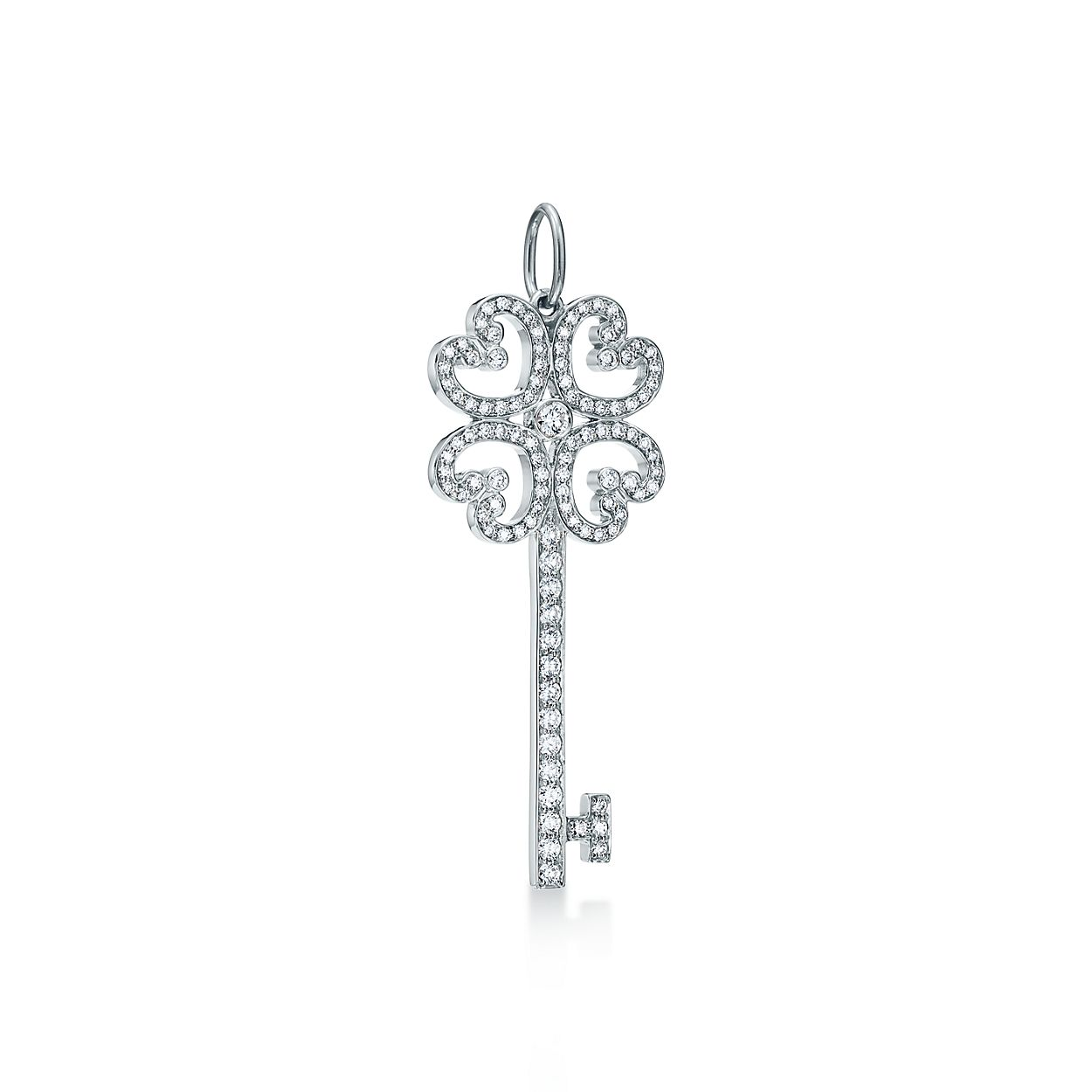 Tiffany keys quatra heart key pendant in platinum with diamonds tiffany keysquatra heart key pendant aloadofball Gallery