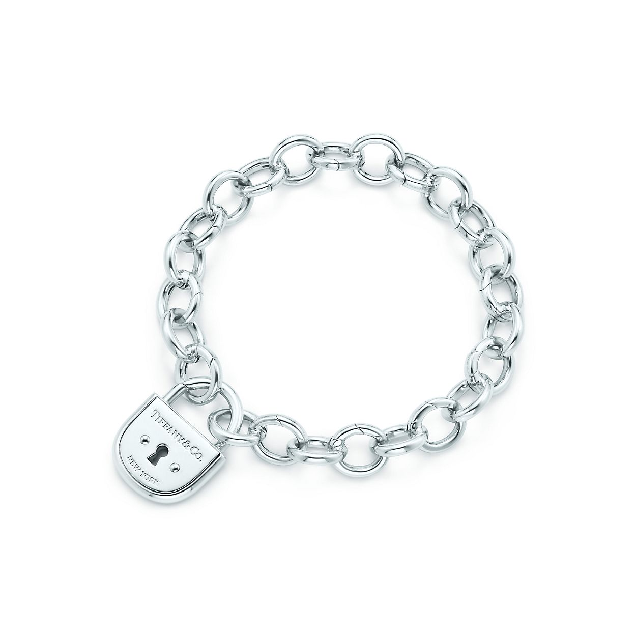 Tiffany Locks Arc Lock In Sterling Silver On A Round Clasping Link