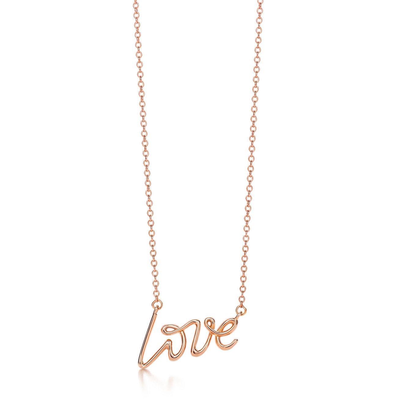Palomas Venezia Goldoni heart pendant in 18k rose gold, small Tiffany & Co.
