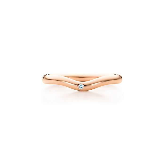 efa428fb0bf Elsa Peretti® wedding band ring with a diamond in 18k rose gold