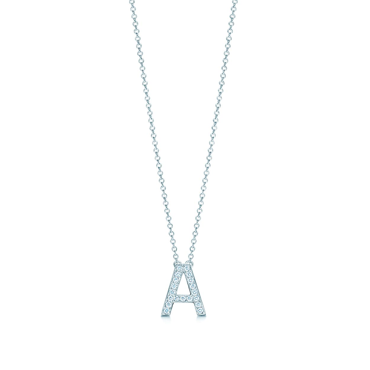 initial collection love white boodles gold necklace letter pendant